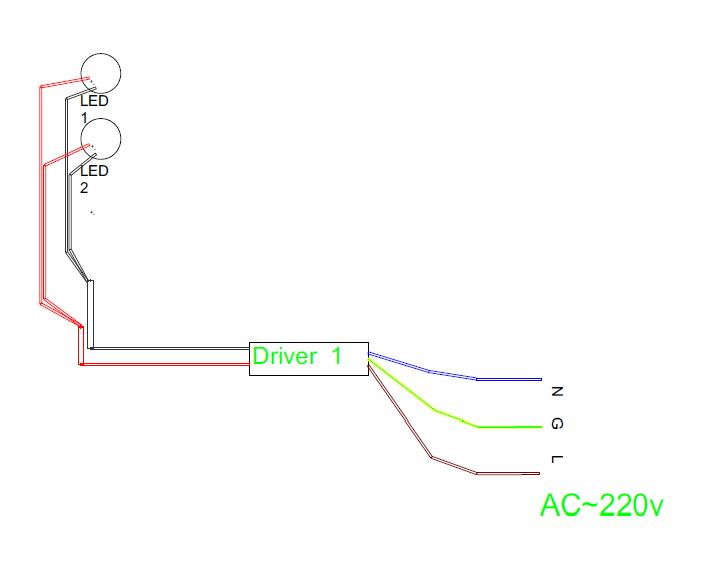Схема подключения светодиодных модулей